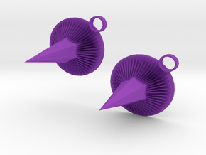 Purple Spike Earrings in Purple Strong & Flexible Polished
