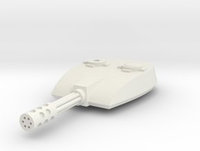 Replacement Hovertank Turret in White Natural Versatile Plastic