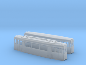 Gotha T2/B2-62 tram set (one direction) in Smooth Fine Detail Plastic