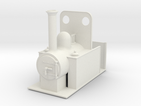 1:32 15 inch gauge side tank in White Natural Versatile Plastic