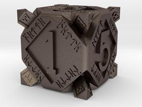 Dwarf dice in Polished Bronzed Silver Steel