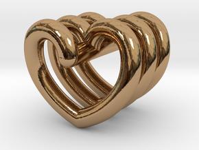 Heart Helix Pendant in Polished Brass