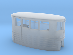 Small Passenger Trolley - Open Windows - Z Scale  in Frosted Ultra Detail