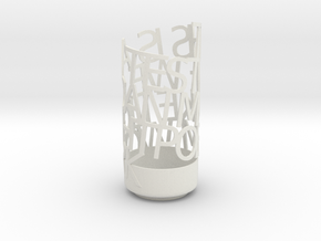 Light Poem in White Natural Versatile Plastic