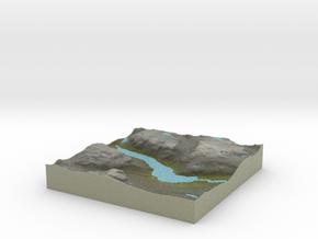 Terrafab generated model Mon Dec 09 2013 22:31:04  in Full Color Sandstone