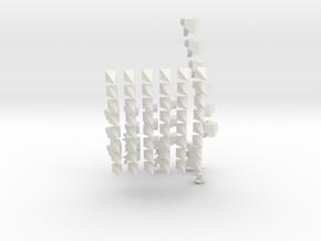Shrapnel Prism in White Natural Versatile Plastic