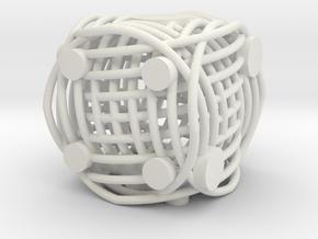 Spiral Die in White Natural Versatile Plastic