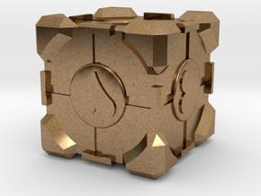 Companion Cube in Natural Brass
