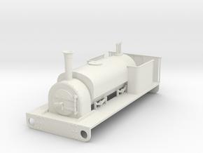 Gn15 Hunslet saddle tank in White Natural Versatile Plastic