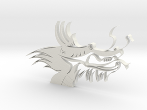 Dragon Head in White Natural Versatile Plastic
