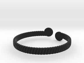 Simple Braided Bracelet -v1b in Black Strong & Flexible