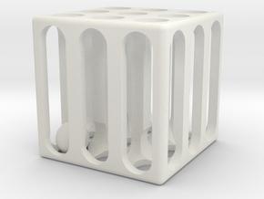 Ball Maze in White Natural Versatile Plastic