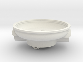 BC hub bottom and commutator in White Natural Versatile Plastic
