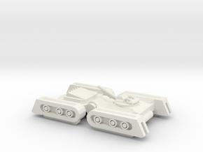 Dreadnought Tank in White Natural Versatile Plastic