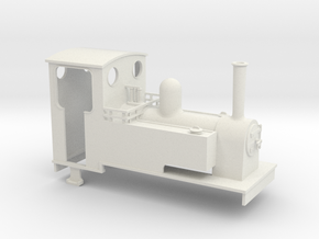 Gn15 side tank 2 long  with cab in White Strong & Flexible