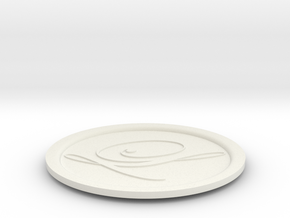 drink coaster in White Natural Versatile Plastic