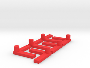 L-shaped peg for my son's maze game in Red Processed Versatile Plastic