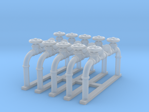 Pipes 1 - Zscale in Smooth Fine Detail Plastic