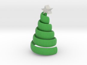 The swirl xmas tree in Full Color Sandstone