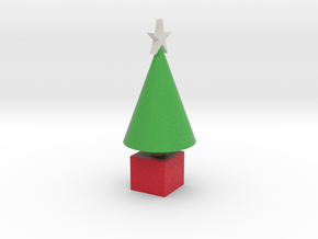 classic tree with star in Full Color Sandstone