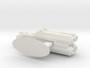 Capital Ship Class- Hunter in White Natural Versatile Plastic
