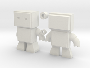 Robot Snap Kit Model in White Natural Versatile Plastic