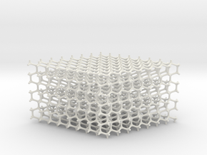 Hexagonal Diamond lattice in White Natural Versatile Plastic