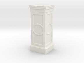 40mm Display Pedestal  in White Natural Versatile Plastic