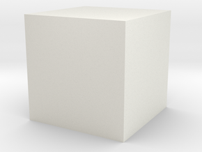 test cube in White Natural Versatile Plastic