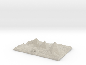 Pyramids Of Giza More Accurate And Sphinx Model in Natural Sandstone