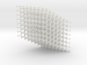 Standard Diamond Lattice in White Natural Versatile Plastic