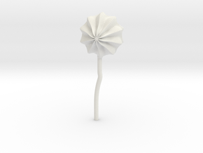 flower01 in White Natural Versatile Plastic