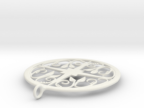 Ivy Pendant in White Natural Versatile Plastic