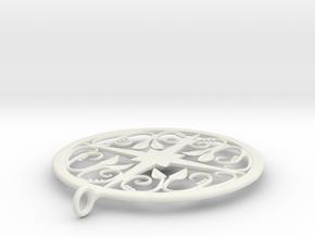 Ivy Pendant in White Natural Versatile Plastic