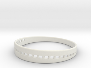 BraceletX 80mm in White Natural Versatile Plastic