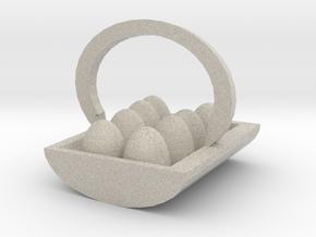 Egg Basket in Natural Sandstone