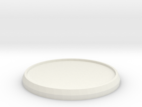 Round Model Base 35mm in White Natural Versatile Plastic