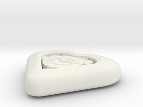 Mech Heart in White Natural Versatile Plastic
