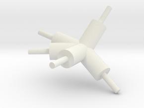 tisch_konnektor_09 in White Natural Versatile Plastic