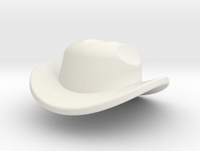 RancherHat1 in White Natural Versatile Plastic