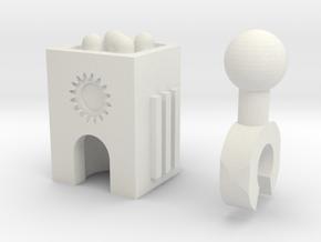 Sunlink - 3mm: Missile Pod in White Natural Versatile Plastic