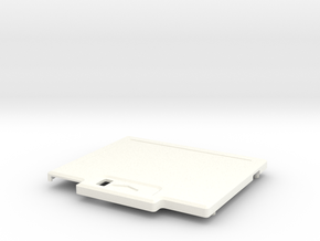 TED V1 Super Low Profile Shell in White Processed Versatile Plastic