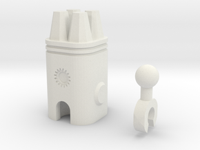 Sunlink - 3mm:4 Gun Pod in White Natural Versatile Plastic