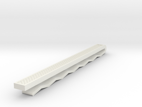 Tie Slide in White Natural Versatile Plastic