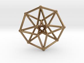 Toroidal Hypercube 50mm 2mm Time Traveller in Natural Brass