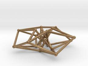 Sacred Geometry: Toroidal Hypercube 50mmx1.5mm  in Natural Brass