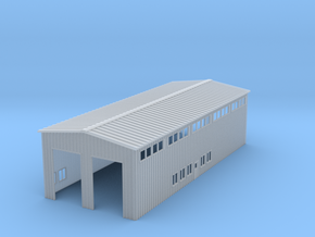 Z Scale Locomotive Shed Without Doors/Roof Details in Smooth Fine Detail Plastic