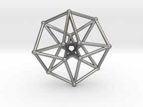 Toroidal Hypercube 50mm 2mm Time Traveller in Natural Silver