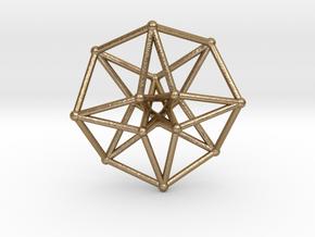 Toroidal Hypercube 50mm 2mm Time Traveller in Polished Gold Steel