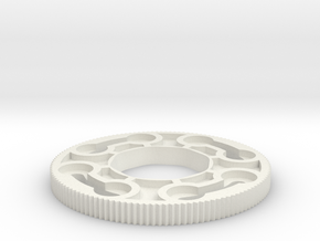 Sanwa JLW series octagonal restrictor plate in White Natural Versatile Plastic